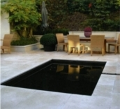 Cms design associates - Rectangle pool with water feature ...